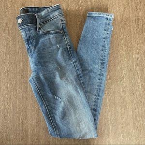 RtA Distressed Skinny Jean Size 24